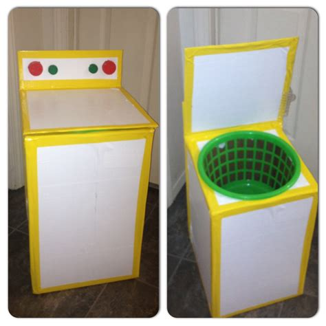 Washing Tape by Play Washing Machine Used Card Board Box Basket From