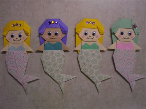 how to make an origami mermaid origami baby mermaid doll