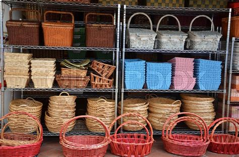 rattan basket trays shop  outdoor  arab street