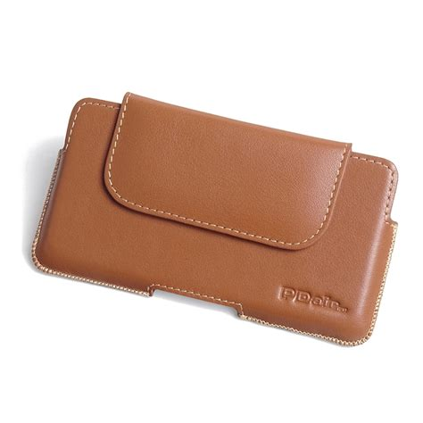 3 In 1 Bg098 Brown Free Pouch iphone 7 plus leather holster pouch brown pdair