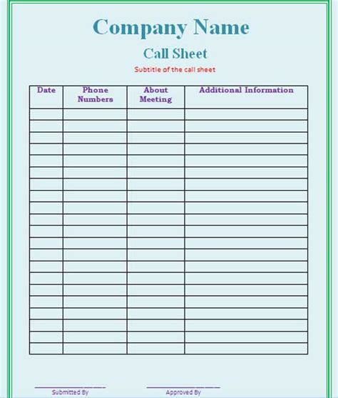 download phone call log form for free tidyform