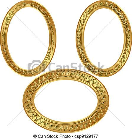 Square Marco Oval goldenl frames golden oval frame with ornaments vectors