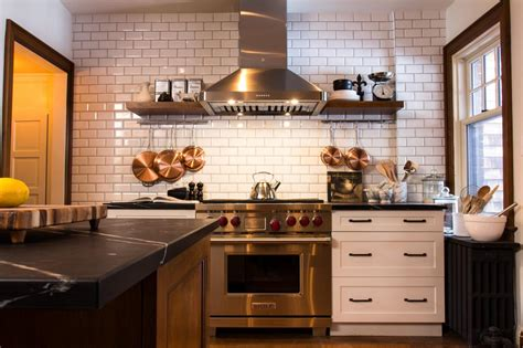 best backsplash for small kitchen 9 kitchens with stopping backsplash hgtv s