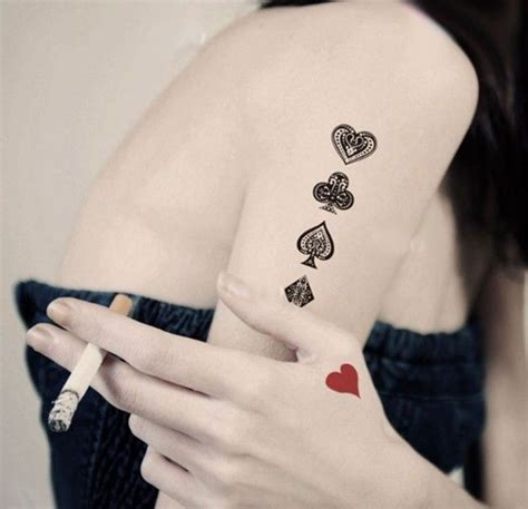 playing cards tattoo designs amp meaning best tattoos for