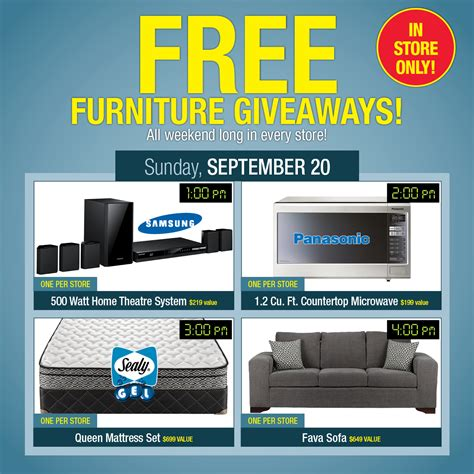 Free Furniture Giveaways - leon s furniture customer appreciation event over 1000 in prizes leonscae