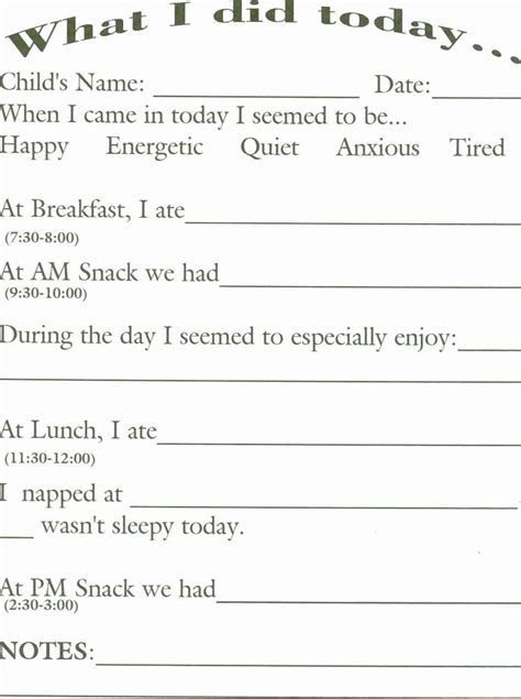daily report sheet images