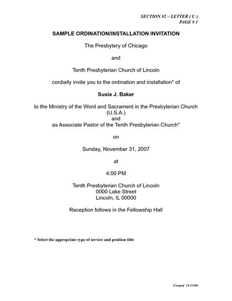Charming Crc Church Order #7: Church-ordination-invitation-letter-sample_609334.png