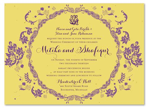 Indian Wedding Reception Cards Templates by Unique Wedding Invitations Vintage Hindu Plantable