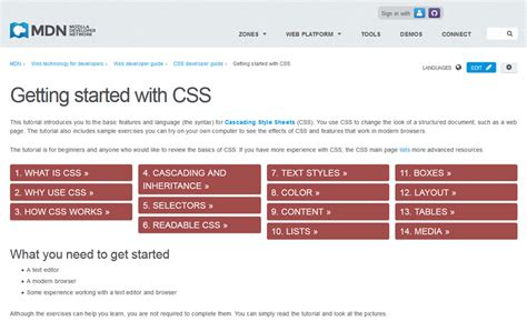 css tutorial starting with html 25 best collection of css tutorial websites 187 css author