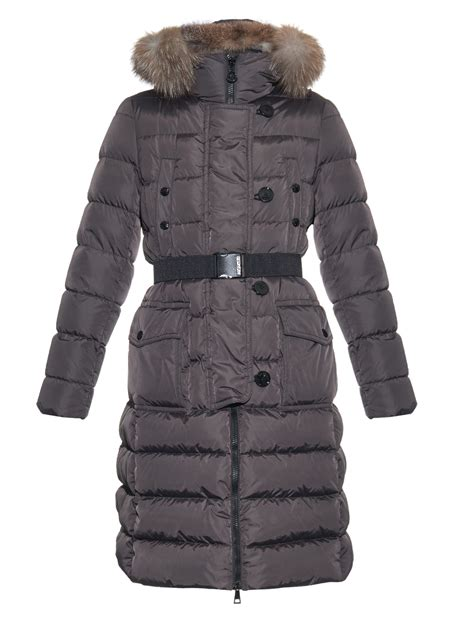 Quilted Coats by Moncler Genevriette Quilted Coat In Gray Lyst