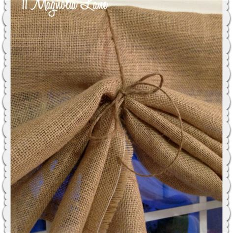 How To Make Burlap Valance tutorial how to make a no sew diy burlap window valances