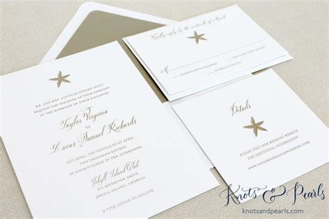 Starfish For Wedding Invitations