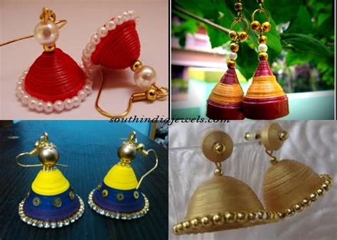 How To Make Quilling Paper Jhumkas - pin jhumka designs by tanishq on