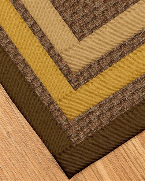 rugs with borders keystone fiber sisal rug available in custom border color sizes ebay