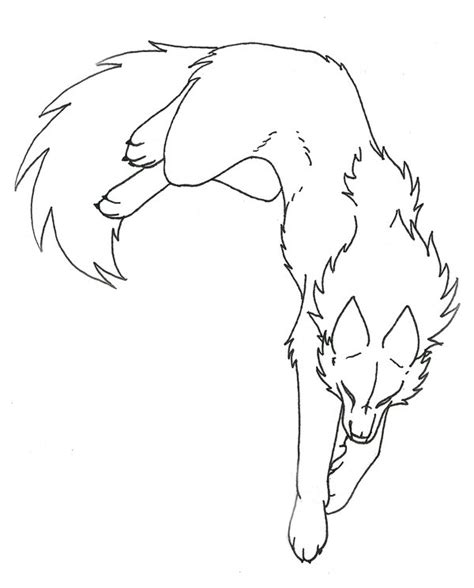 Why Is My Dog So Hyper by Wolf Line Art By Captainmorwen On Deviantart