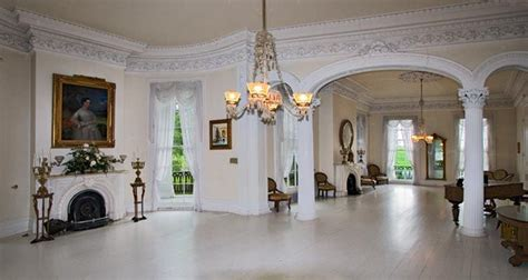 the white ballroom in the nottoway plantation mansion on the great river road near new orleans