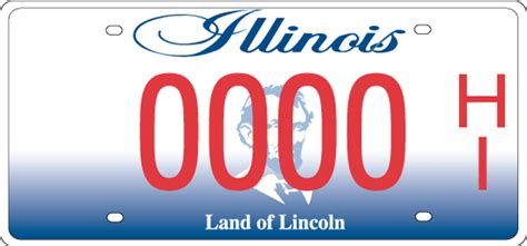 State Of Illinois Vanity Plates Hearing Impaired License Plates