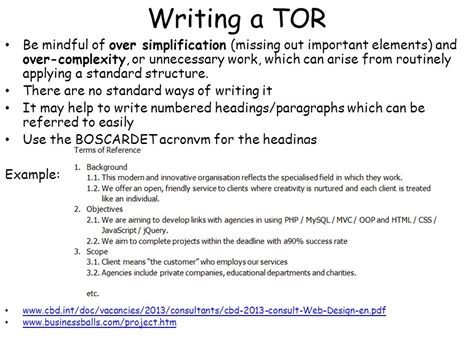 terms of reference template for consultant terms of reference tor ppt