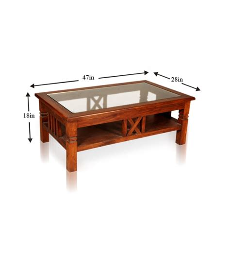 sheesham wood table with glass top by mudra
