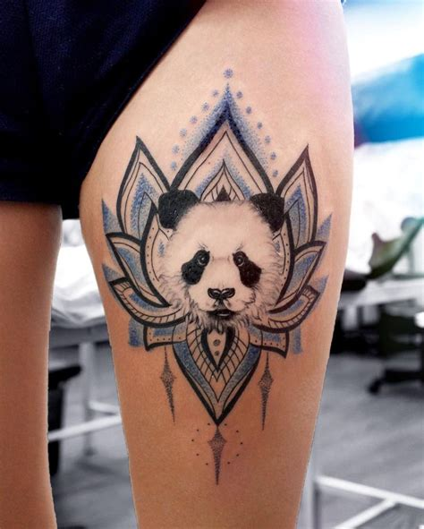 panda tattoo ideas panda mandala flower tat animal designs