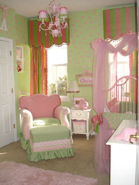 pink and green baby room children s rooms nurseries on pinterest little girl