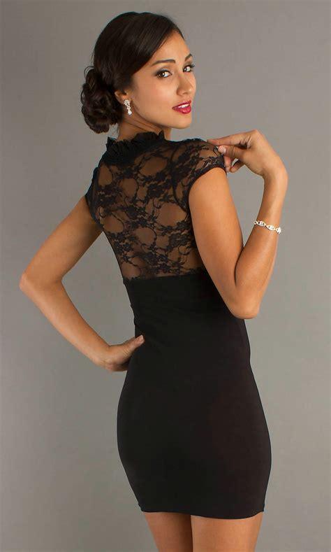 beauties wearing   black dress  wow style