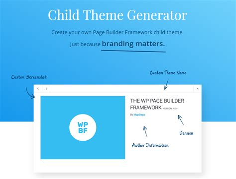theme options generator wordpress theme for page builders page builder framework