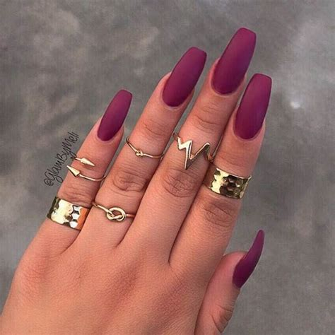 17 best ideas about burgundy matte nails on