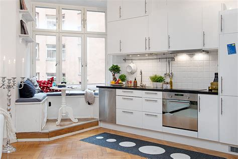cozy kitchen design  practical seating bench