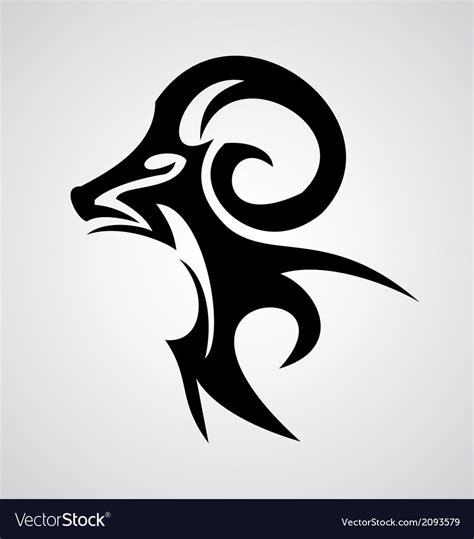 aries sign tribal royalty free vector image vectorstock
