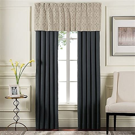 sonoma curtains sonoma window curtain panel pair and valance in grey bed