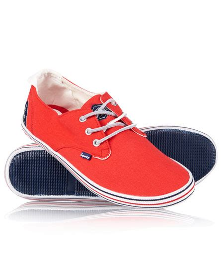 mens skipper shoes in canvas superdry
