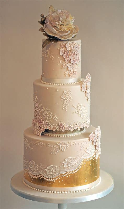 Rose gold wedding cake   Cake topping   Wedding cake