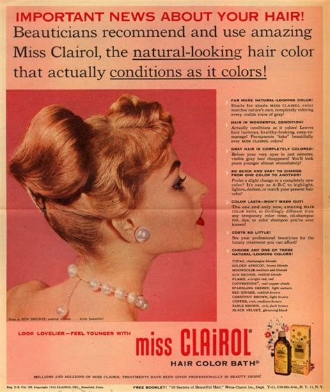 hair ads vintage beauty and hygiene ads of the 1950s page 53