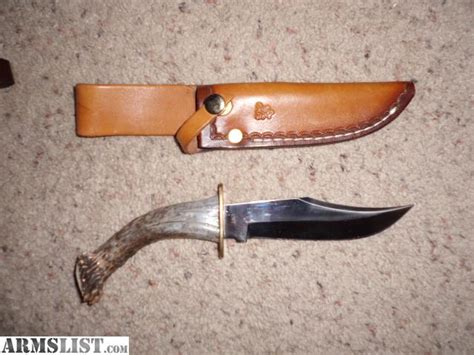 Handmade Knife For Sale - armslist for sale handmade large antler knife