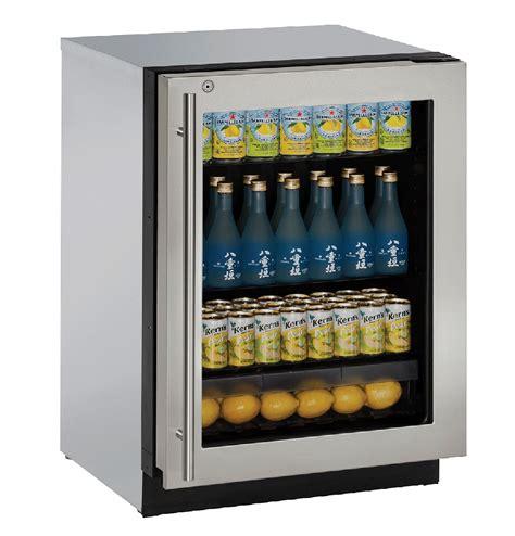 Glass Door Compact Refrigerator U Line 24 Quot Stainless Glass Door Compact Refrigerator U 3024rgls 15b