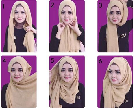 gambar tutorial hijab zoya segi empat tutorial hijab modern terpopuler dan paling di suka para