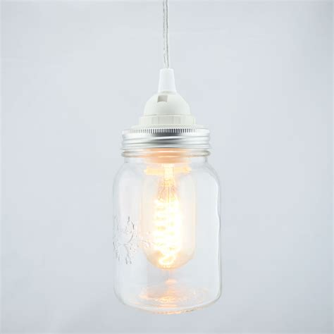 jar pendant light kit jar pendant light kit wide clear cord 15ft