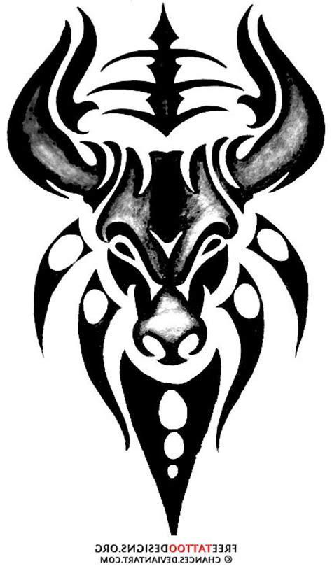 taurus tribal tattoos 25 best tribal bull designs images on