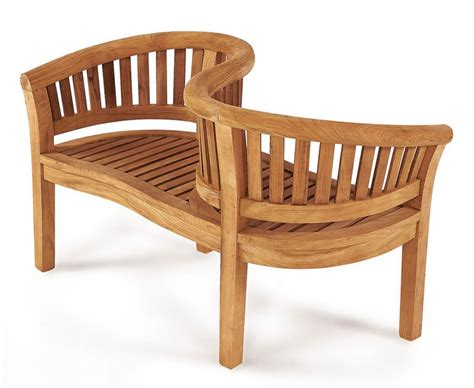 i love benches teak garden love seat love bench