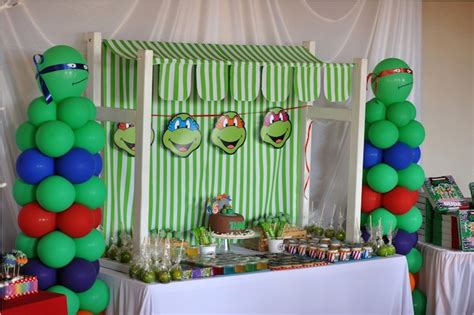ninja turtle themed birthday party kara s party ideas ninja turtle themed birthday party via