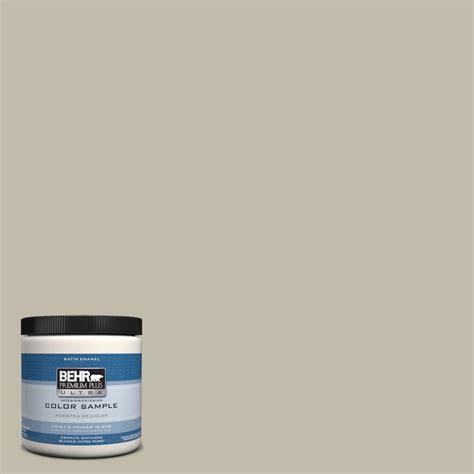 behr premium plus ultra 8 oz hdc fl13 10 wilderness gray interior exterior satin enamel paint