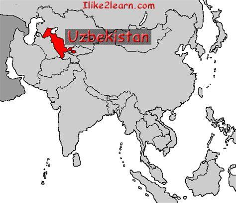 uzbekistan world map uzbekistan