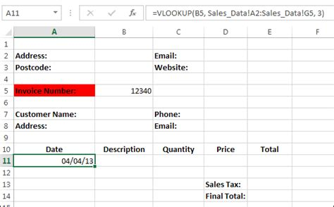 learn vlookup excel 2007 excel sect7 14 excel business invoice part two high