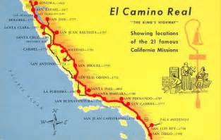 map of el camino real de california california missions