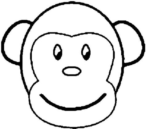 monkey mask coloring page monkey coloring pages printable