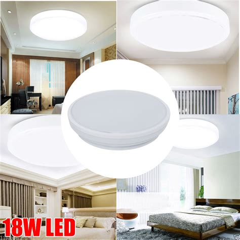 bright bathroom ceiling lights bright 18w smd led flush mount ceiling light wall fixture bathroom downlight w d ebay