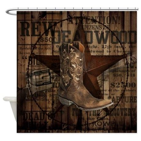 Western Shower Curtains Western Cowboy Shower Curtain By Therusticcottage