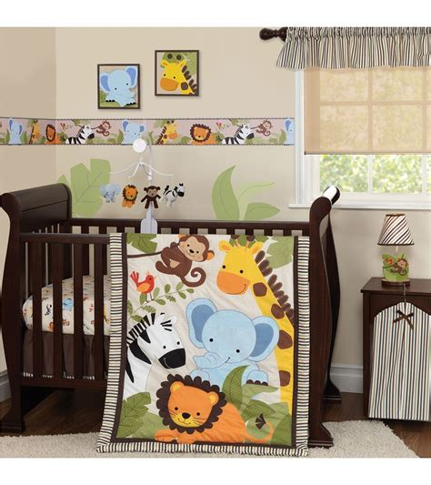 Bedtime Originals Jungle Buddies 3 Piece Crib Bedding Set Jungle Cot Bedding Sets