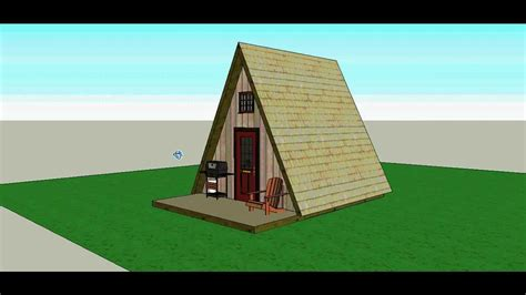 A Frame 14x14 Cabin By Solarcabin Youtube A Frame Building Plans Free